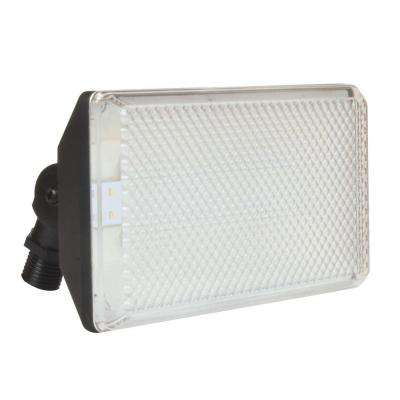 13.5-Watt Black Outdoor Integrated LED Flood Light
