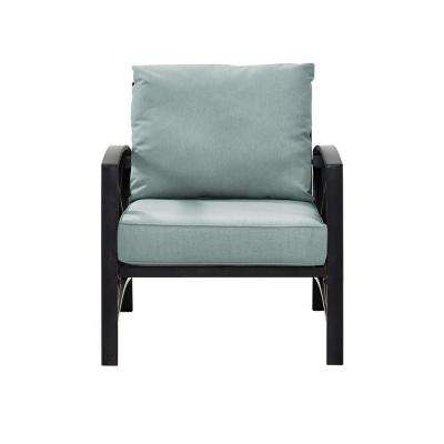 Kaplan Metal Outdoor Patio Lounge Chair with Mist Cushion