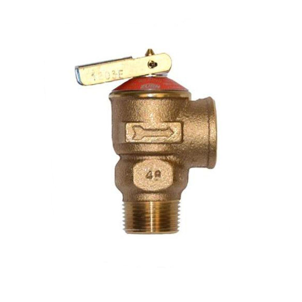 zurn wilkins 3 4 in lead free brass npt pressure relief valve p1000axl 150c the home depot. Black Bedroom Furniture Sets. Home Design Ideas