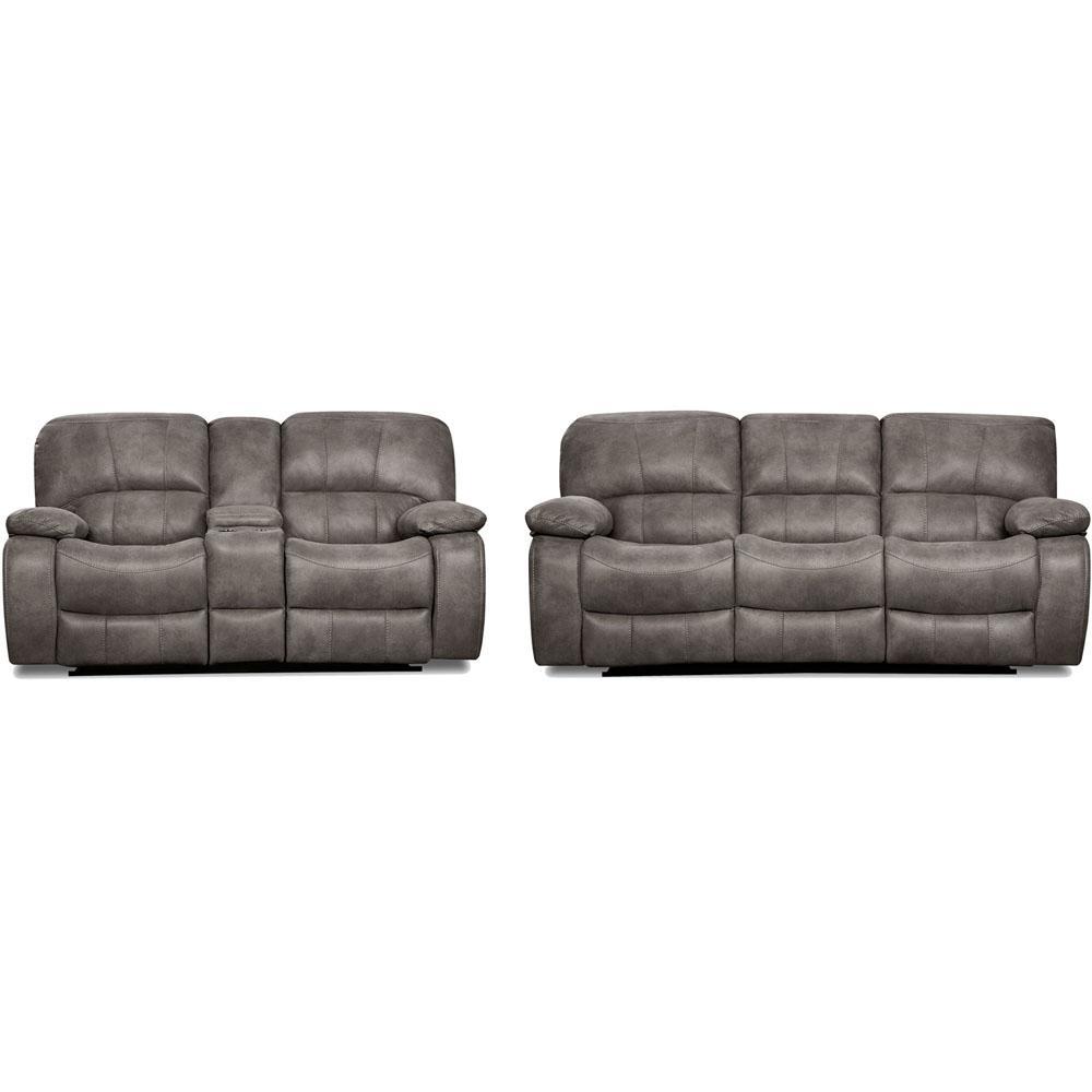 Cambridge Garrison 2 Piece Charcoal Sofa, Loveseat Living Set