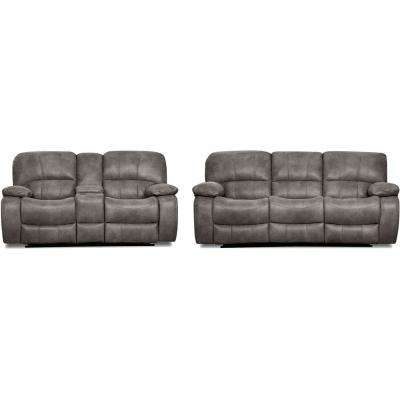 Garrison 2-Piece Charcoal Sofa, Loveseat Living Set