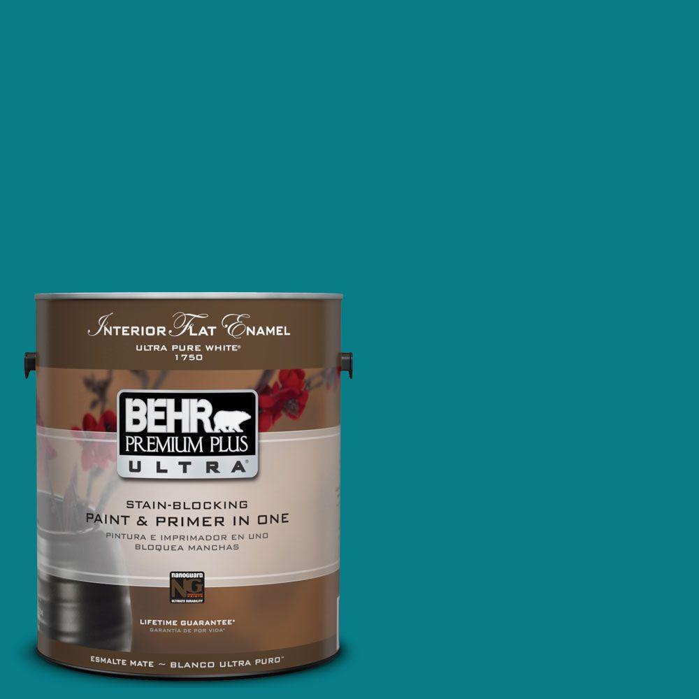 BEHR Premium Plus Ultra 1-Gal. #UL220-1 Caribe Interior Flat Enamel Paint