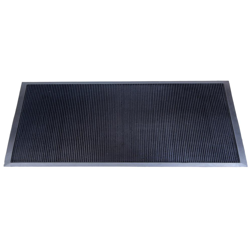 Trafficmaster Black Lattice 24 In X 36 In Door Mat