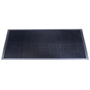 Matsinc. Fingertip Black 36 inch x 72 inch Black Rubber Door Mat by Mats.