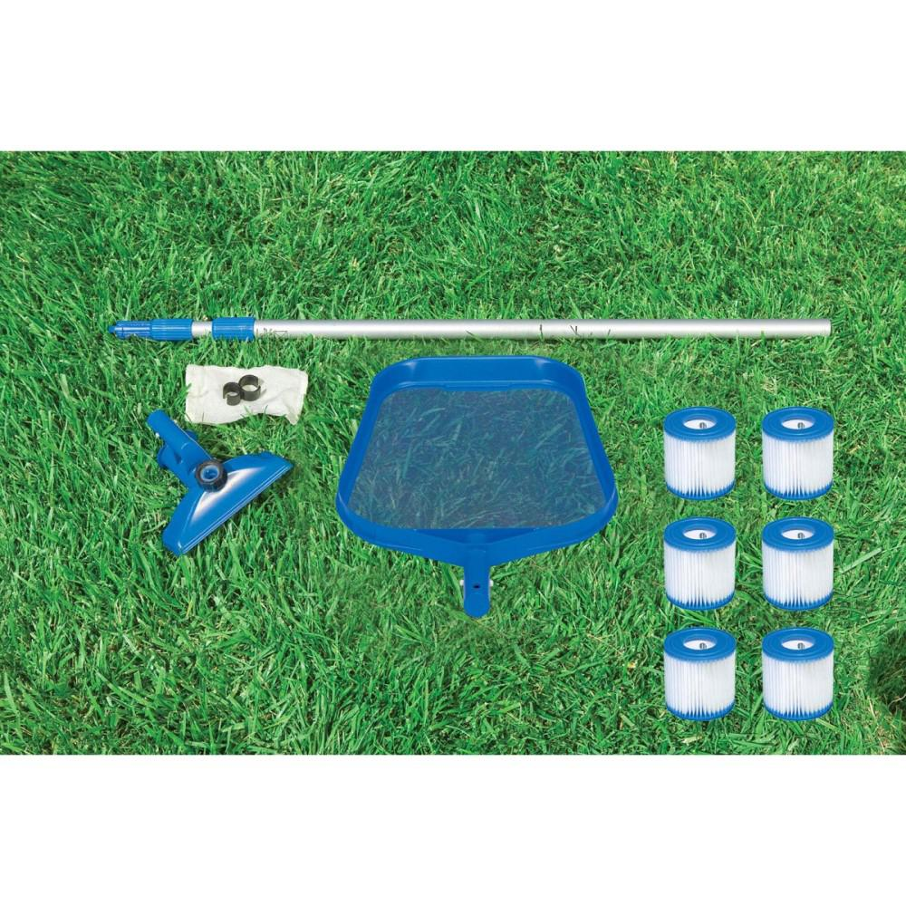 Intex Cleaning Maintenance Swimming Pool Kit with Vacuum, Pole and Filters