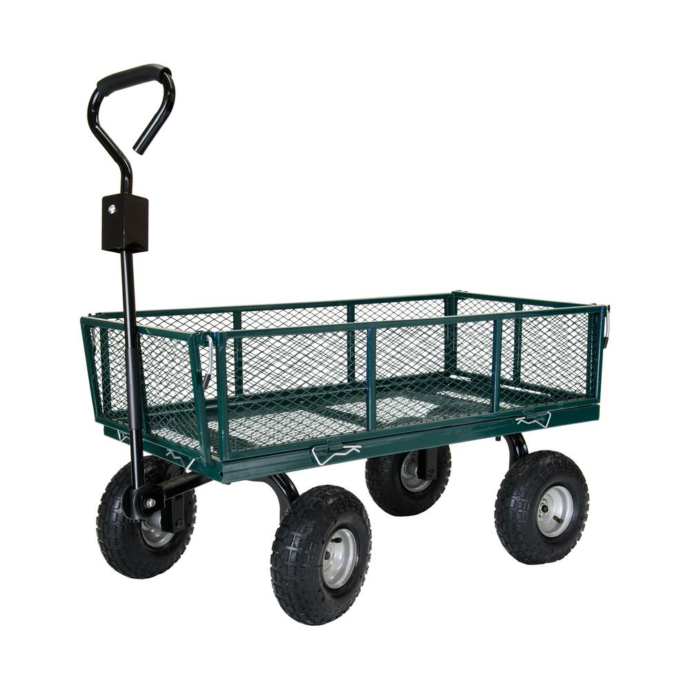 700 lbs. Steel Utility/Garden Cart with Sidewalls