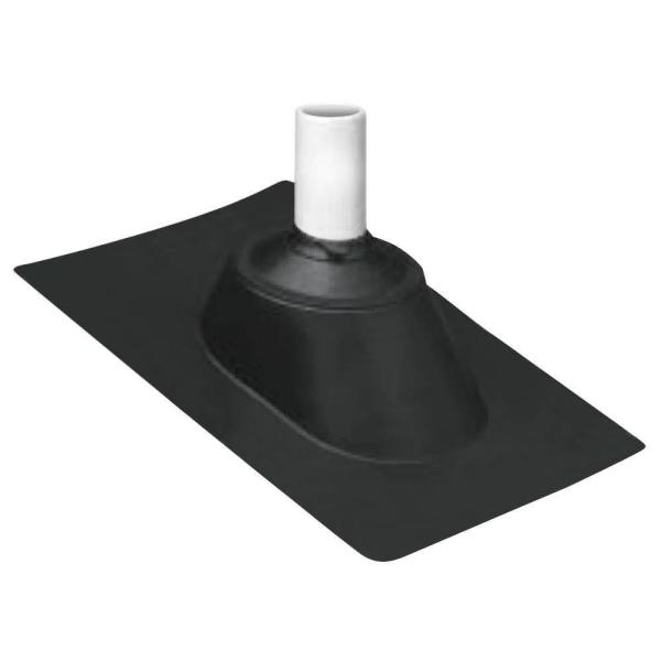 1-1/4 in. - 3 in. Adjustable Pipe Flashing with Hard Plastic Base and Rubber Collar