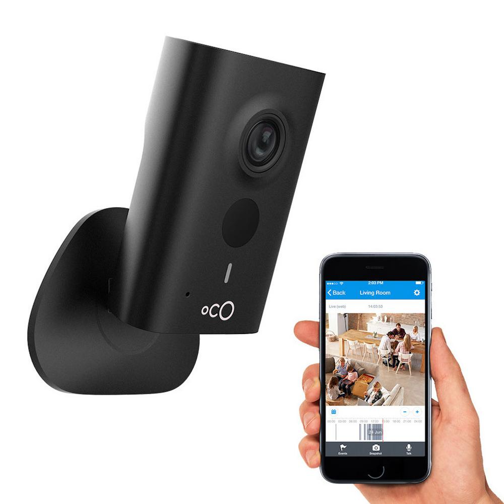 Oco HD 960p Indoor Video Surveillance Security Camera with SD Card, Cloud Storage, 2-Way Audio and Remote Viewing, Black was $130.9 now $49.0 (63.0% off)