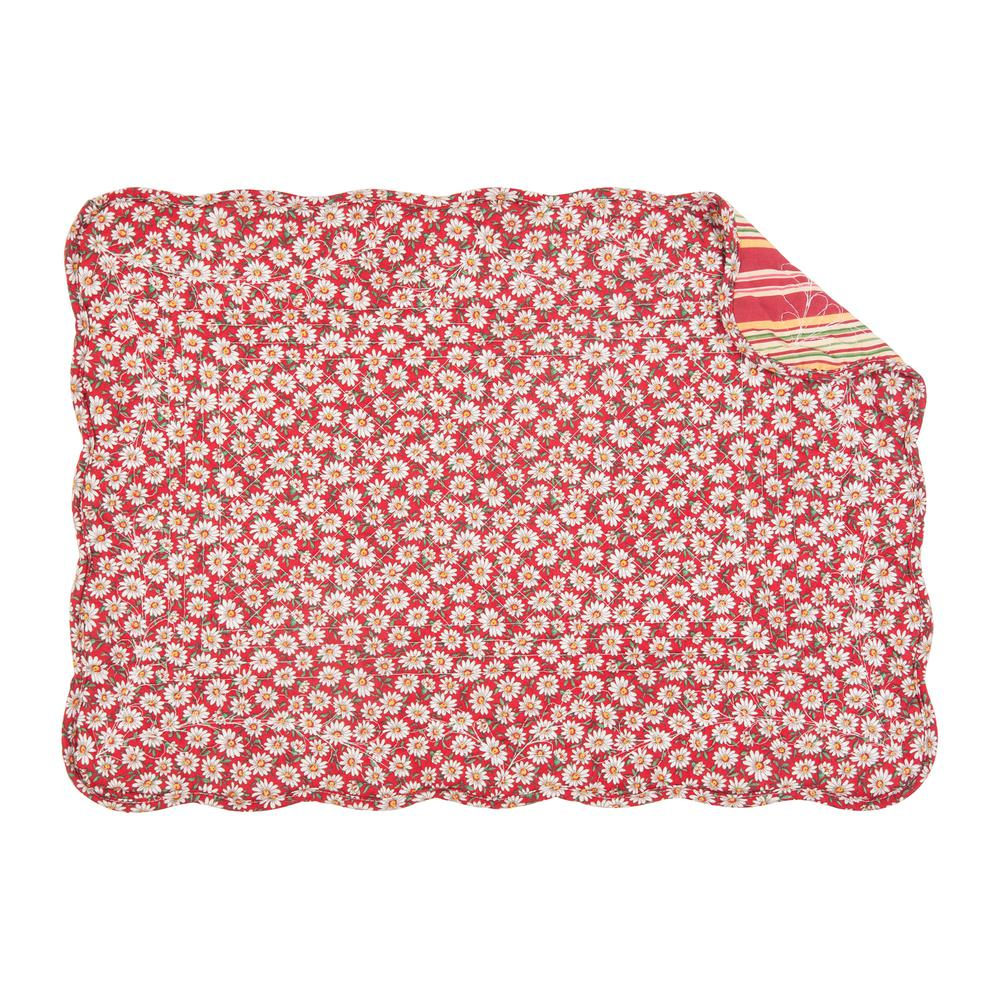 C Amp F Home Red Sadie Quilted Placemat Set Of 6