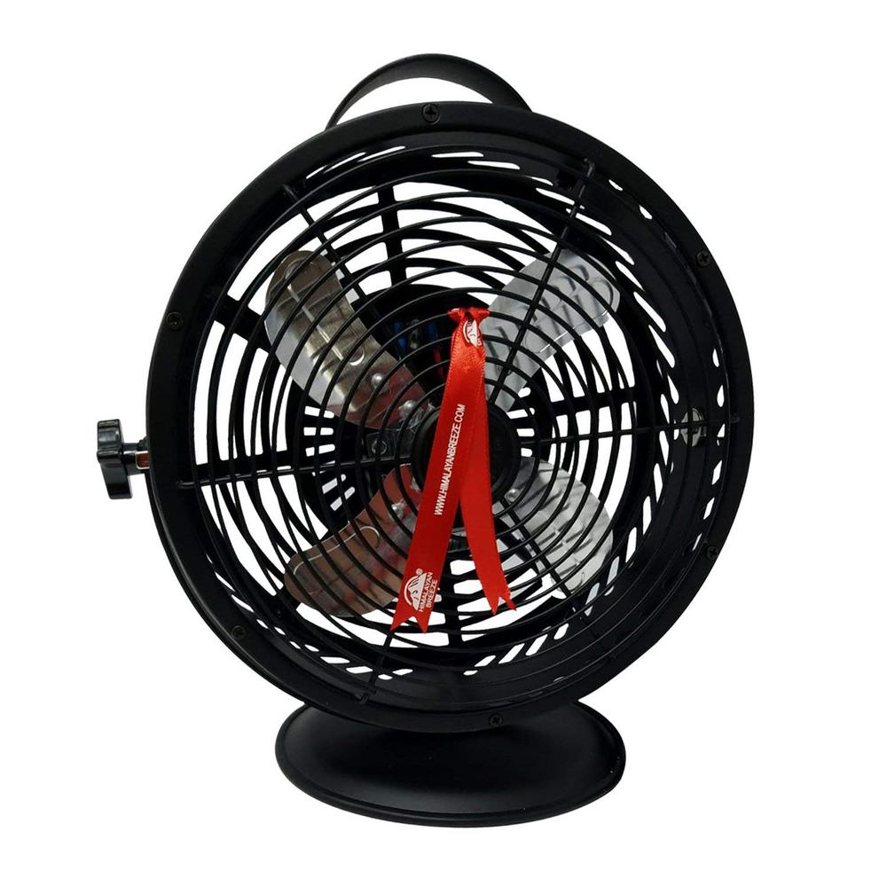 Matte Black 10.9 in. Himalayan Breeze Portable Table Fan