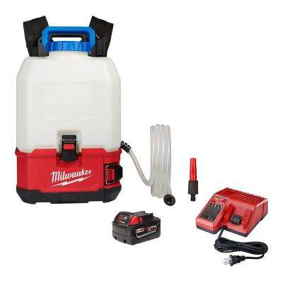 M18 18-Volt 4 Gal. Lithium-Ion Cordless Switch Tank Backpack Water Supply Kit with 3.0 Ah Battery and Charger