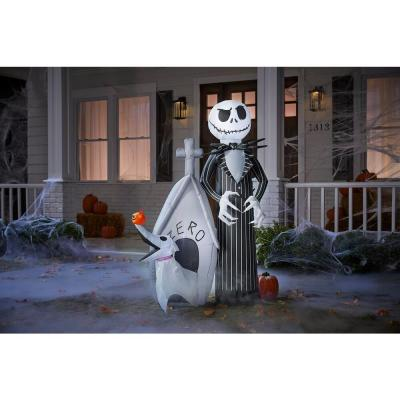 5 ft. Pre Lit Jack and Zero Disney Airblown Inflatable