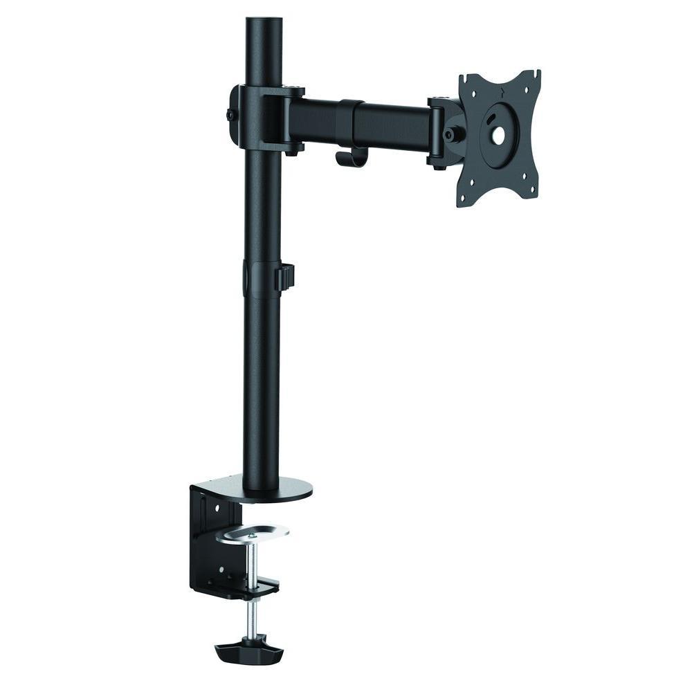Single Monitor Desk Mount Arm for 13 in. - 27 in. Screens, Holds 1 Monitor, 45 Degree Tilt, 17.6 lb. Capacity