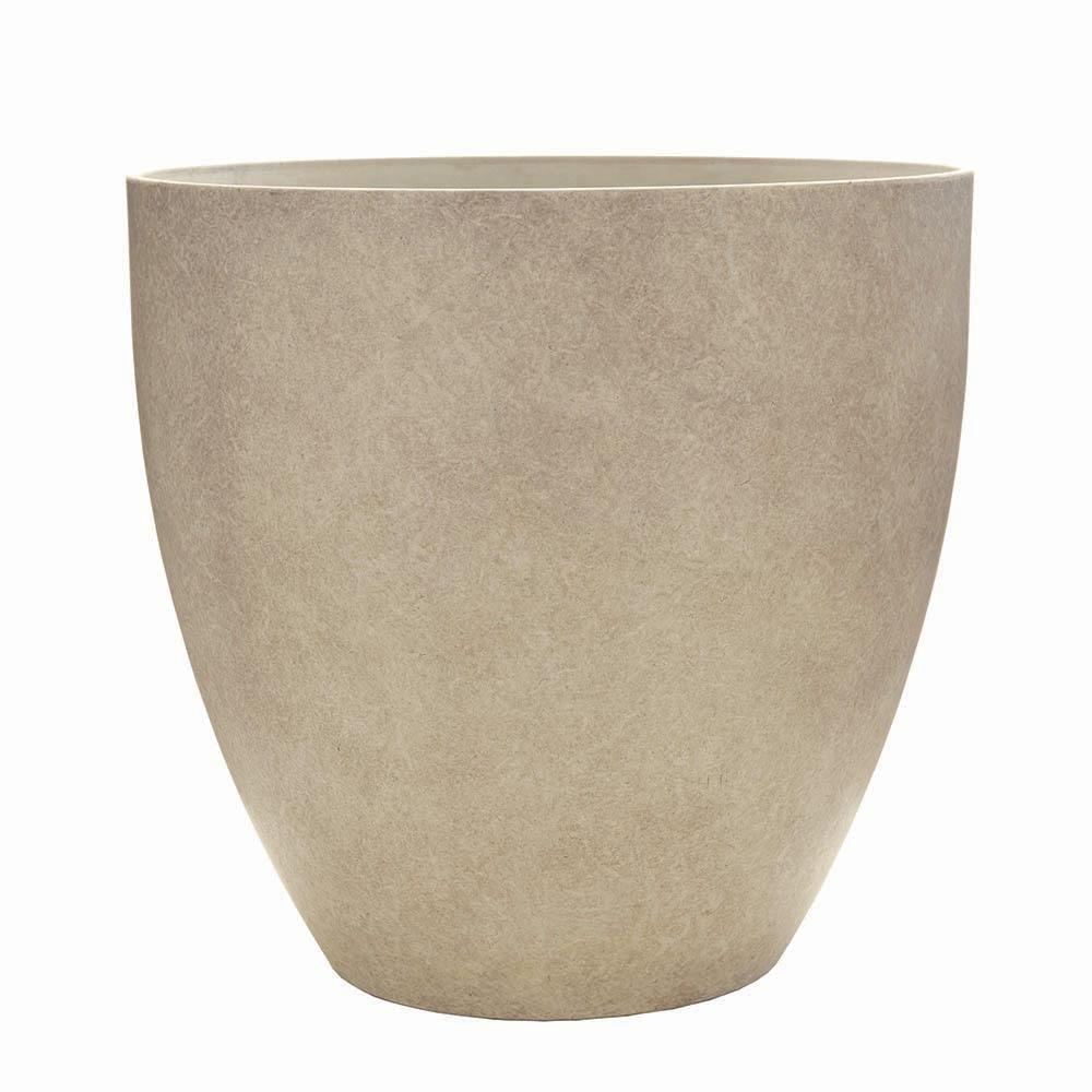 Southern Patio Egg 9 in. Dia  Bone Resin Planter
