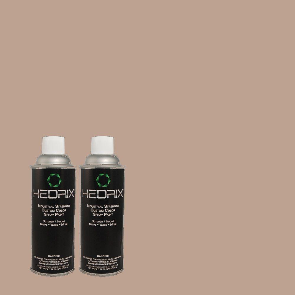 Hedrix 11 oz. Match of 3A29-3 Rocco Tan Semi-Gloss Custom Spray Paint (2-Pack)