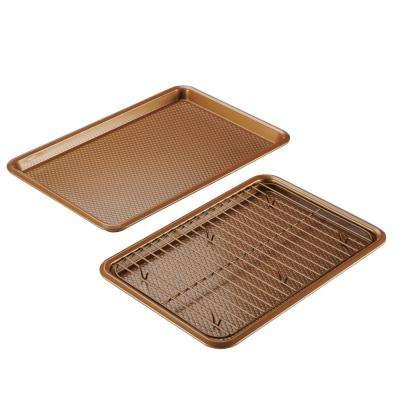 Bakeware 3-Piece Copper Cookie Pan Set