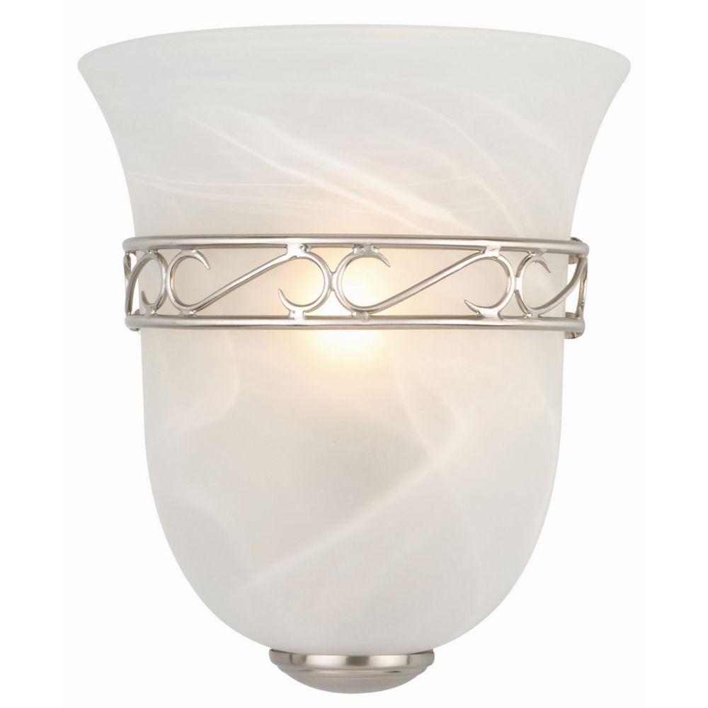 Design House Marlowe 1-Light Satin Nickel Tulip Shape Sconce