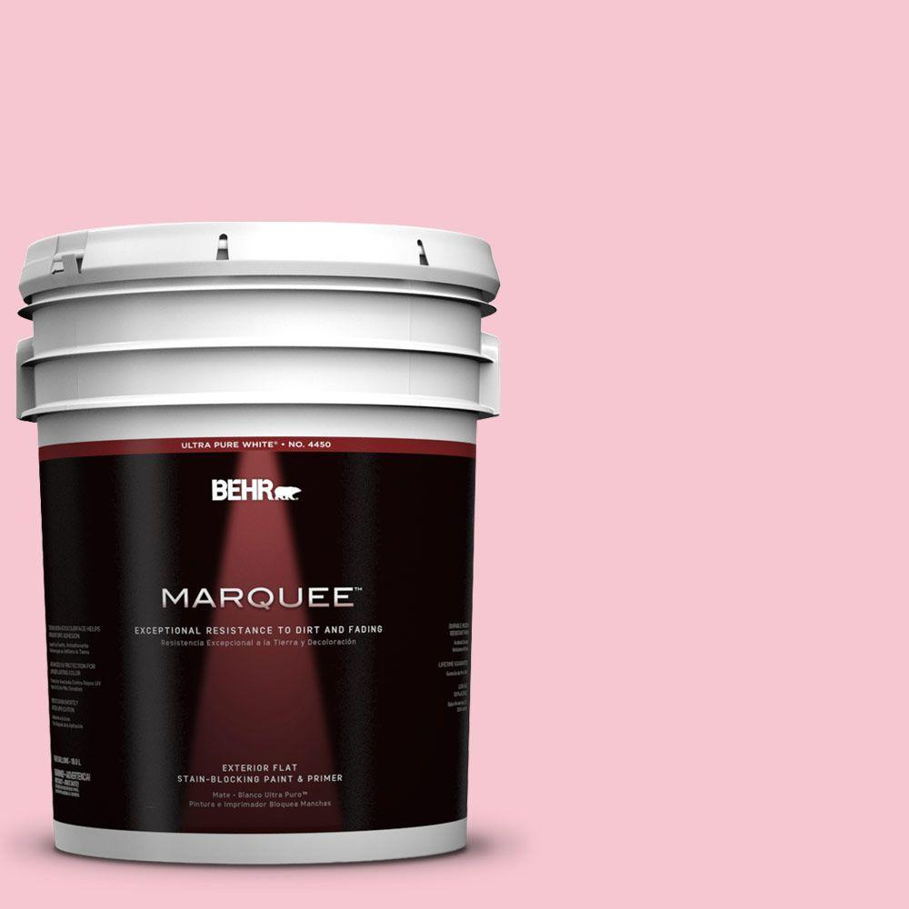 5-gal. #120B-4 Old Fashioned Pink Flat Exterior Paint