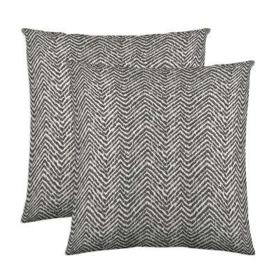 Citizen 18 in. x 18 in. Charcoal Decorative Pillow (2-Pack)