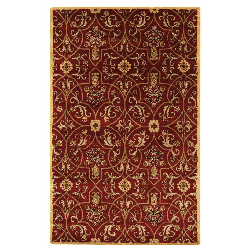 Home Decorators Collection Grimsby Red 2 ft. x 3 ft. Area Rug
