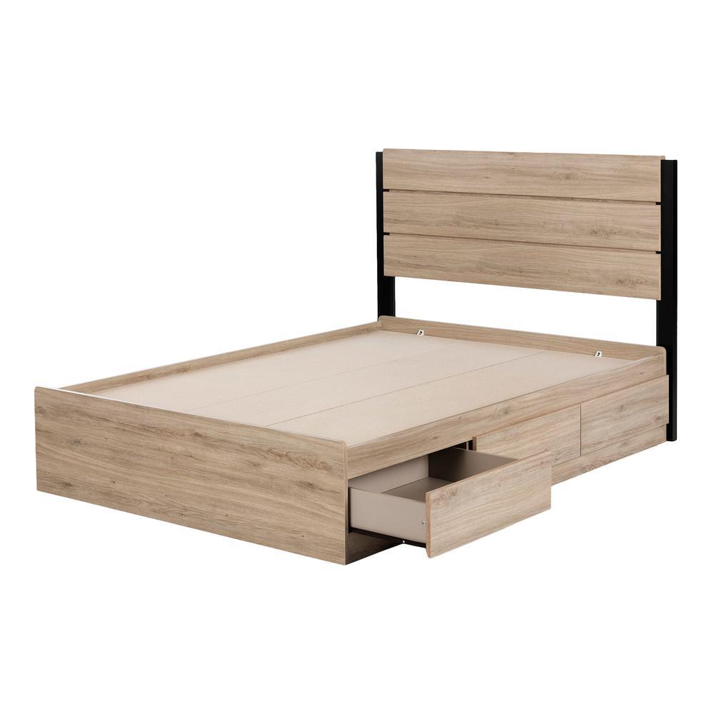 South Shore Fakto Rustic Oak Full Bed 12207