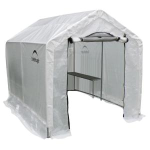 ShelterLogic 6 ft. x 8 ft. x 6 ft. 6 inch Backyard Greenhouse Shed with Integrated... by ShelterLogic