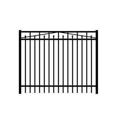 Adams 6 ft. W x 3 ft. H Black Aluminum 3-Rail Fence Gate