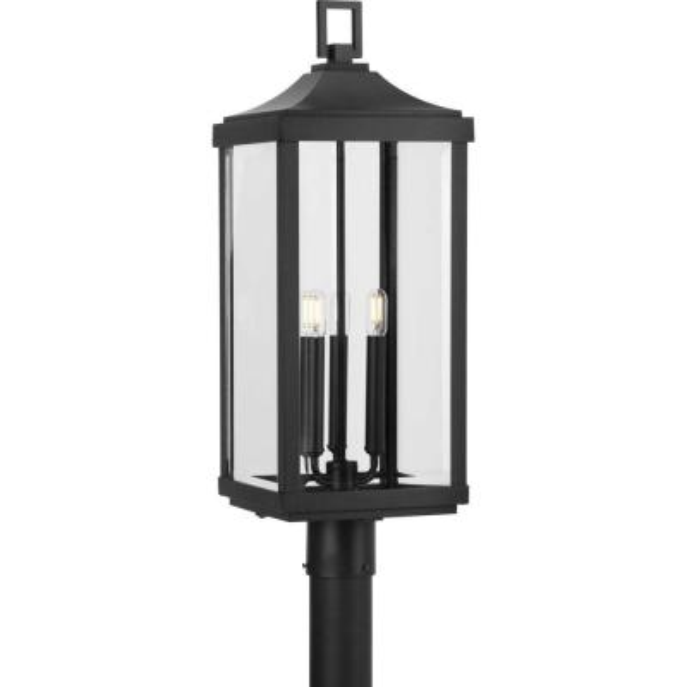 Gibbes Street Black 3-Light Post Lantern