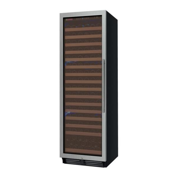 FlexCount Classic II Single Zone 174-Bottle Stainless Steel Left Hinge Wine Refrigerator