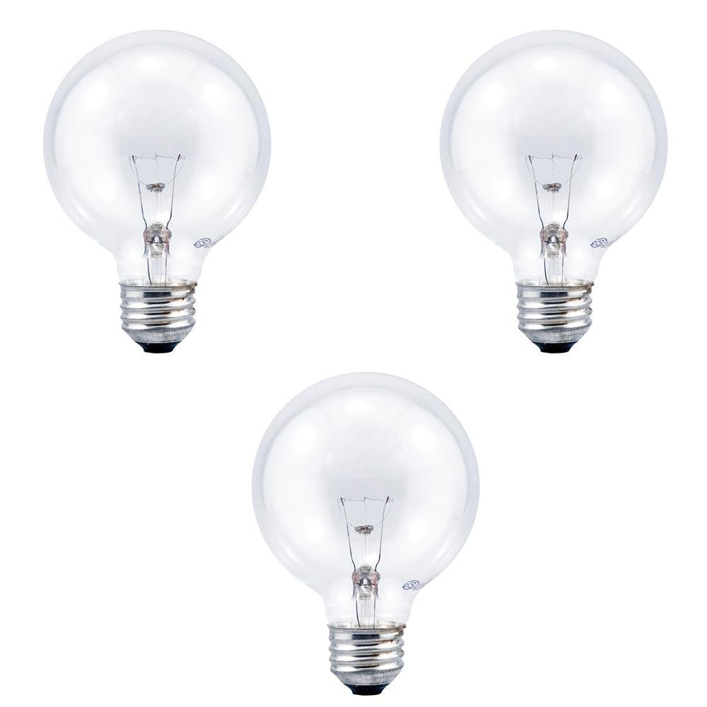 40-Watt G25 Globe Double Life Clear Incandescent Light Bulb