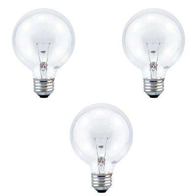 40-Watt G25 Globe Double Life Clear Incandescent Light Bulb