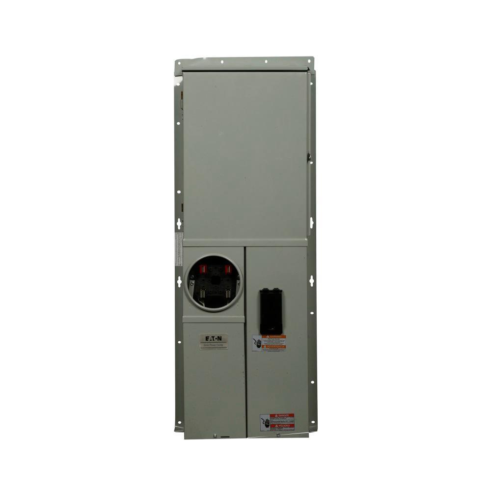 BR 200 Amp 42-Circuit Outdoor Solar Ready EUSERC Meter Breaker Panel