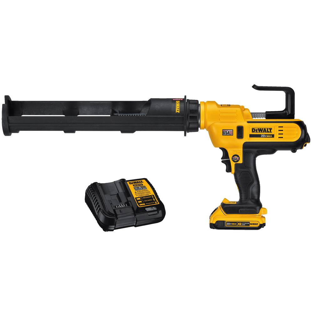 DEWALT 20-Volt MAX Lithium-Ion Cordless 600 ml Adhesive Gun Kit with Battery 2Ah and Charger