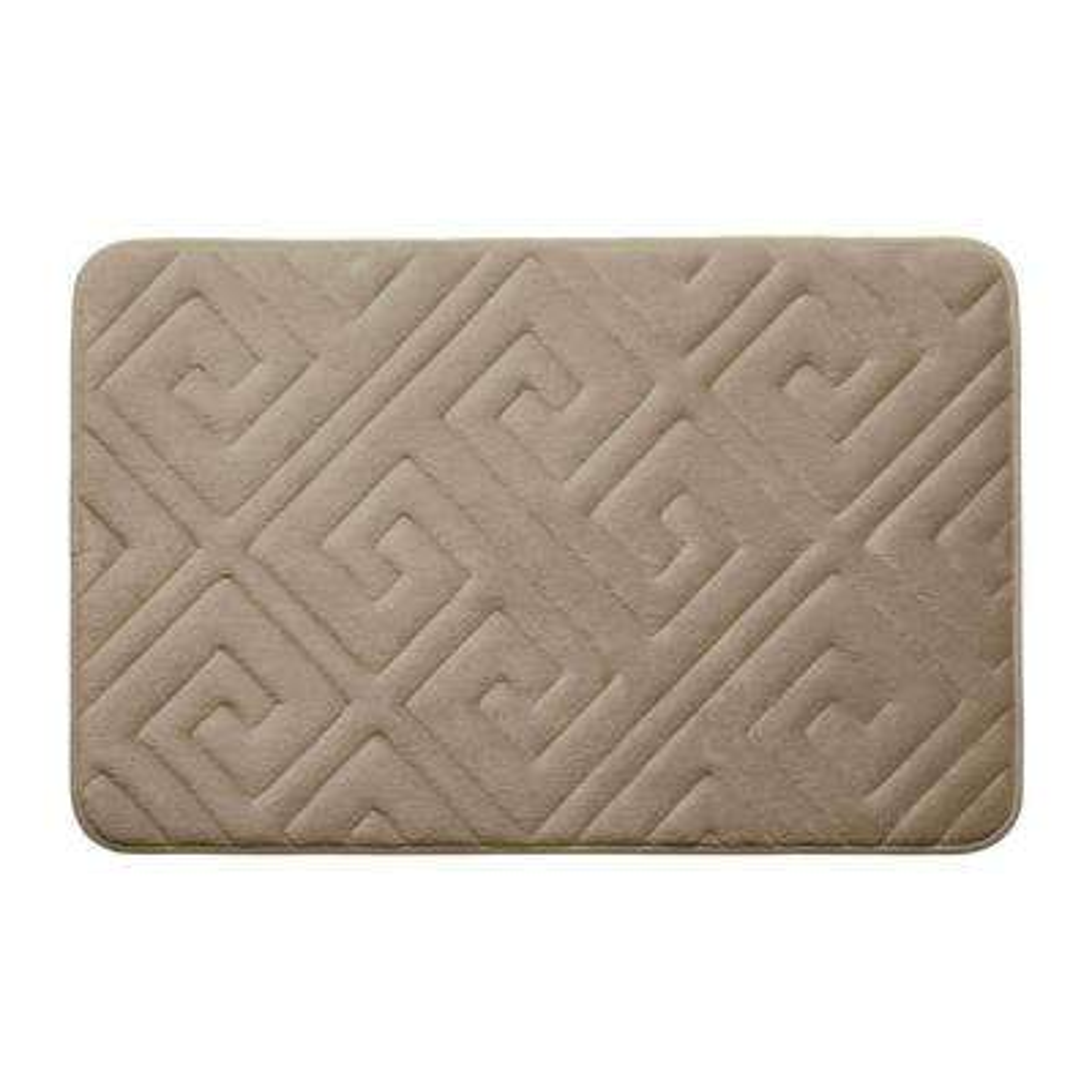 Caicos Linen 17 in. x 24 in. Memory Foam Bath Mat