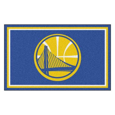 NBA - Golden State Warriors Blue 4 ft. x 6 ft. Area Rug