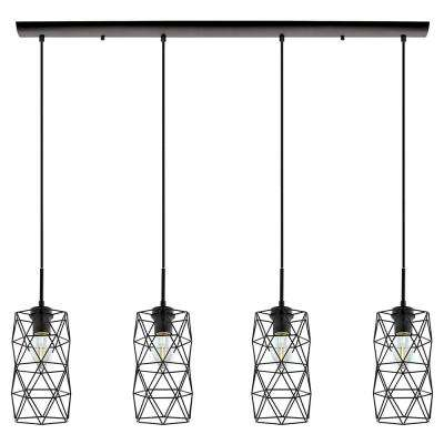 Estevau 2 4-Light Matte Black Multi-Pendant