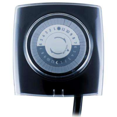 15 Amp 24-Hour Outdoor Plug-In Extreme Weather Mechanical Timer, Black