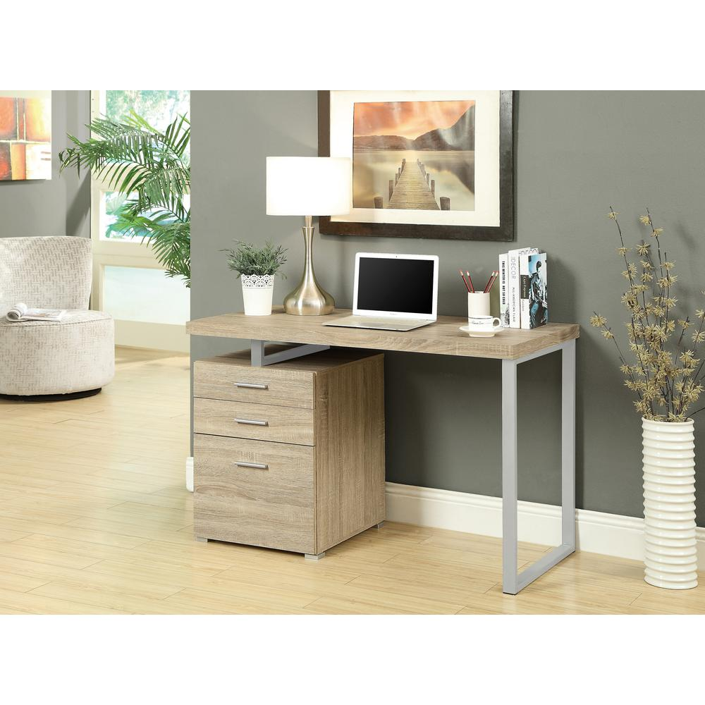 Monarch Specialties Natural Desk With File Cabinet