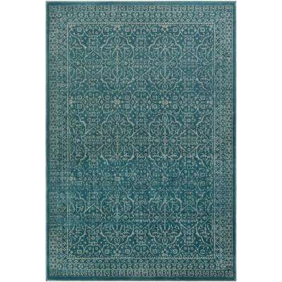 Steinberger Teal 8 ft. x 11 ft. Indoor Area Rug