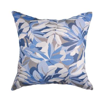 Dewey Blue Square Accent Lounge Throw Pillow