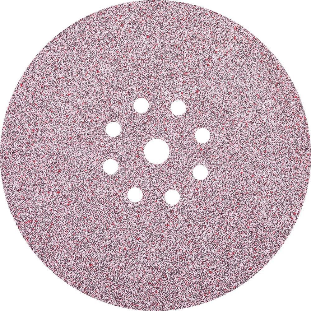 9 in. Round Abrasive Disc, Hook & Loop, 80-Grit (25/Pack)