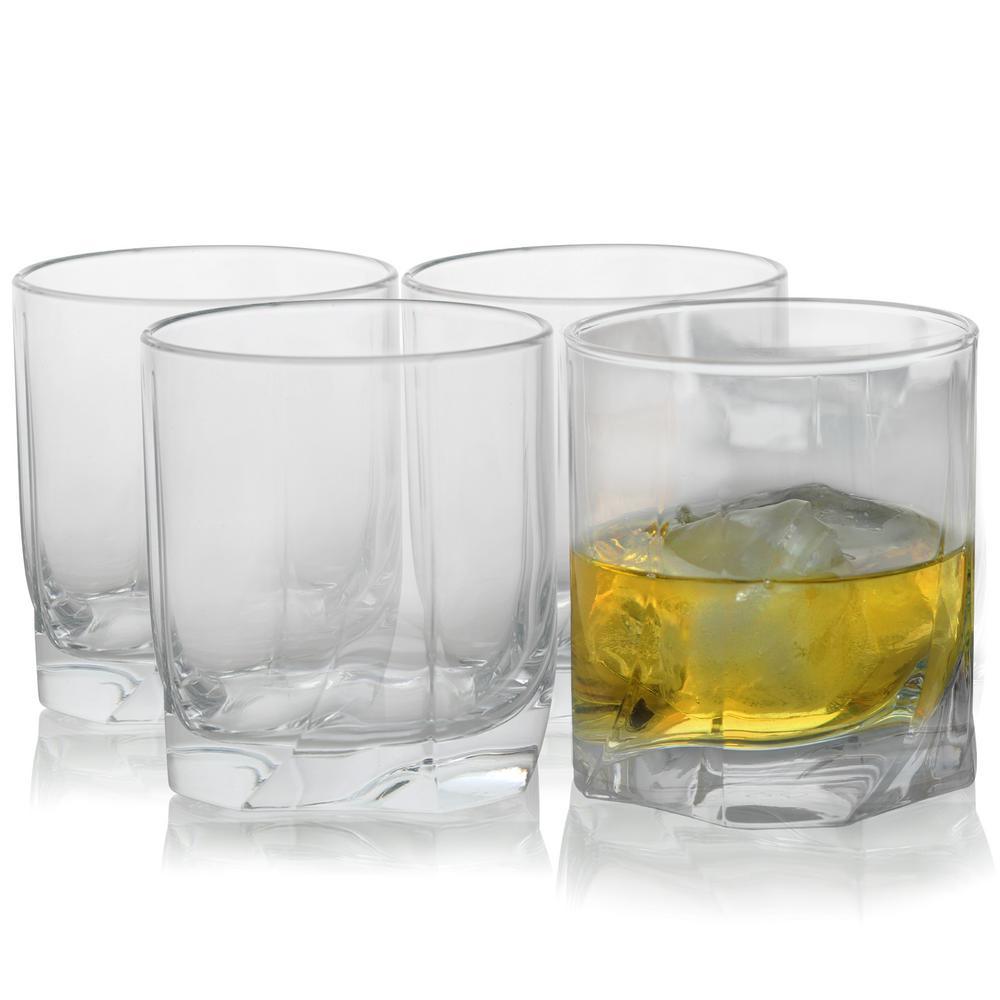 cbb47f19eff Pasabahce Luna 12.75 oz. Double Old Fashioned Glass Set (4-Pack ...