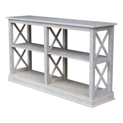 Hampton Weathered Taupe Gray Console Table