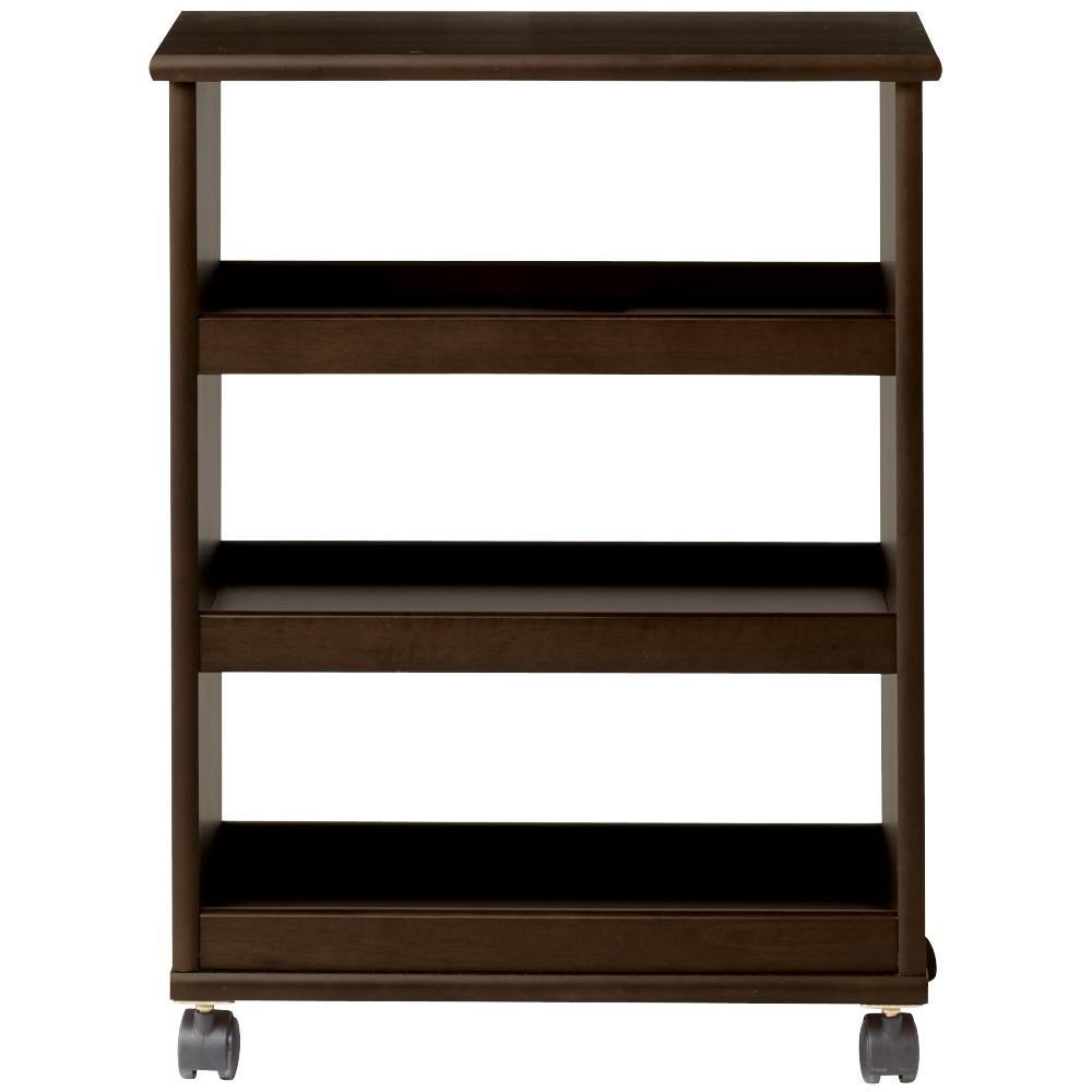 Stanton 20 in. W Multi-Function 3-Shelf Storage Cart in Chestnut