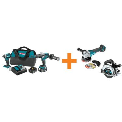 18V LXT Brushless 2-Piece Combo Kit with Bonus 18V LXT Brushless 6-1/2 in. Circ Saw and 18V LXT Brushless Angle Grinder