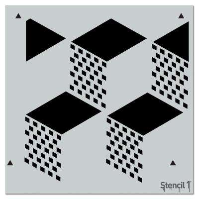 Geometric 3D Repeat Pattern Stencil