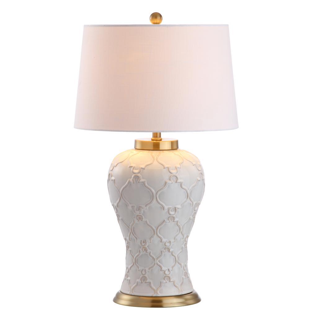 Jonathan y arthur 29 in cream ceramic table lamp jyl4024a the cream ceramic table lamp mozeypictures Choice Image