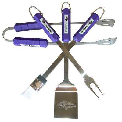 NFL Baltimore Ravens 4-Piece Grill Tool Set