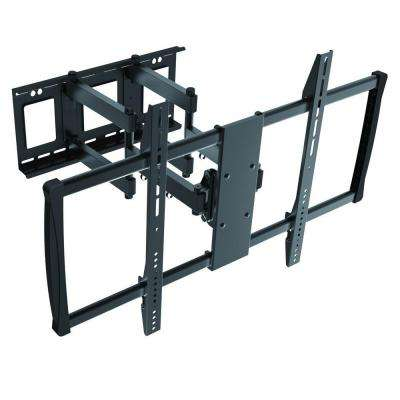 Low-Profile Full Motion TV Wall Mount for 60 in. - 100 in. Curved/Flat Panel TV's with 15° Tilt, 176 lb. Capacity