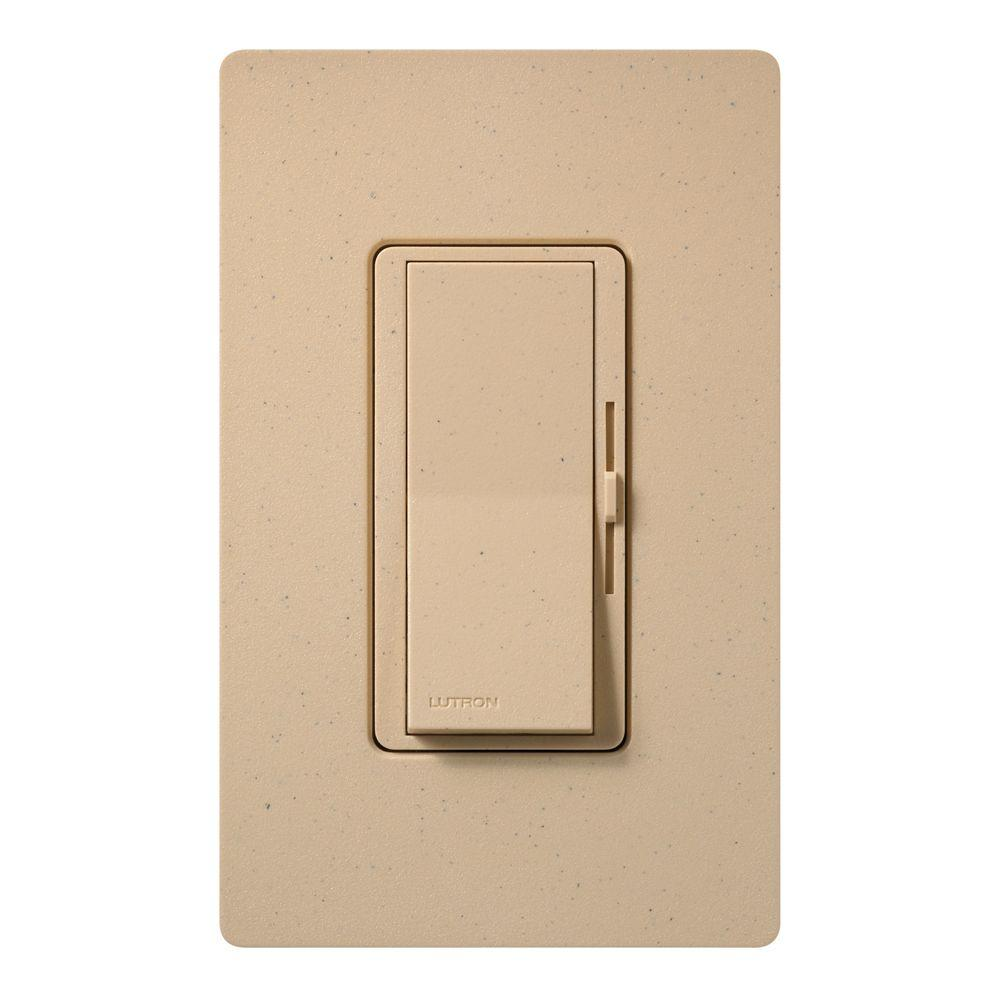 Diva Dimmer for Incandescent and Halogen, 600-Watt, Single-Pole, Desert Stone